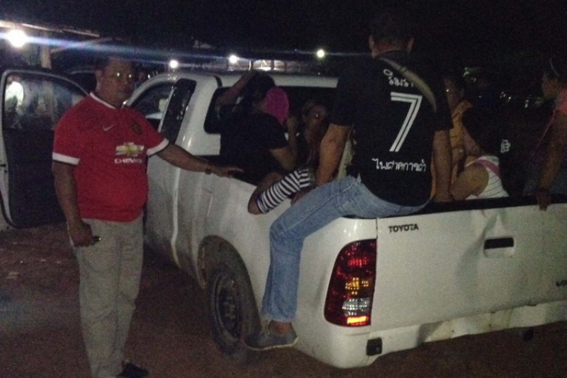 Thai hookers caught plying for business at a cattle market
