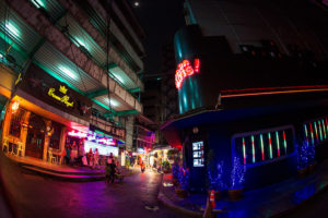 The well-known Patpong Bangkok red light district