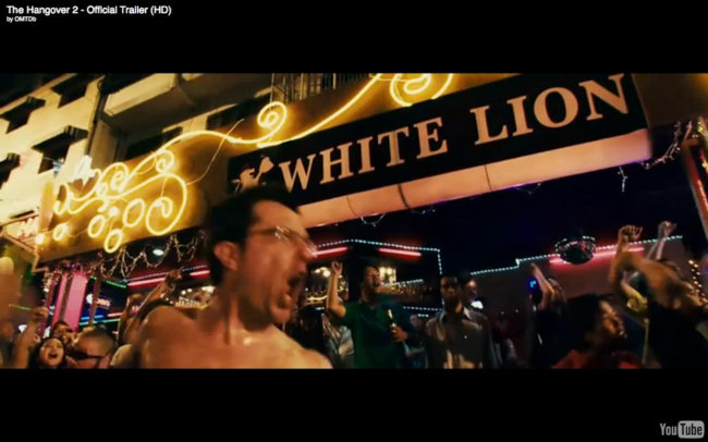 A scene from The Hangover 2 on Soi Cowboy