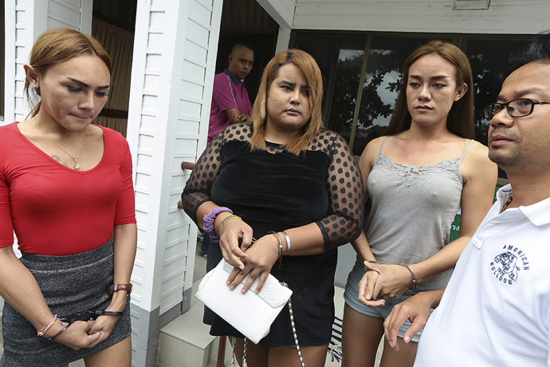 The three Khao San Road ladyboys arrested for stealing credit cards... because nobody wanted to pay for sex with them