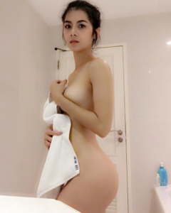 Letting the towel slip
