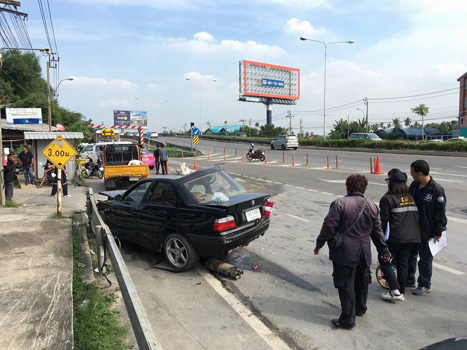 The driver of the black BMW was killed instantly