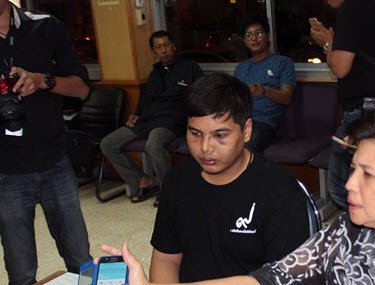 Kittisak Singto suffered black eye and bruises after the attack