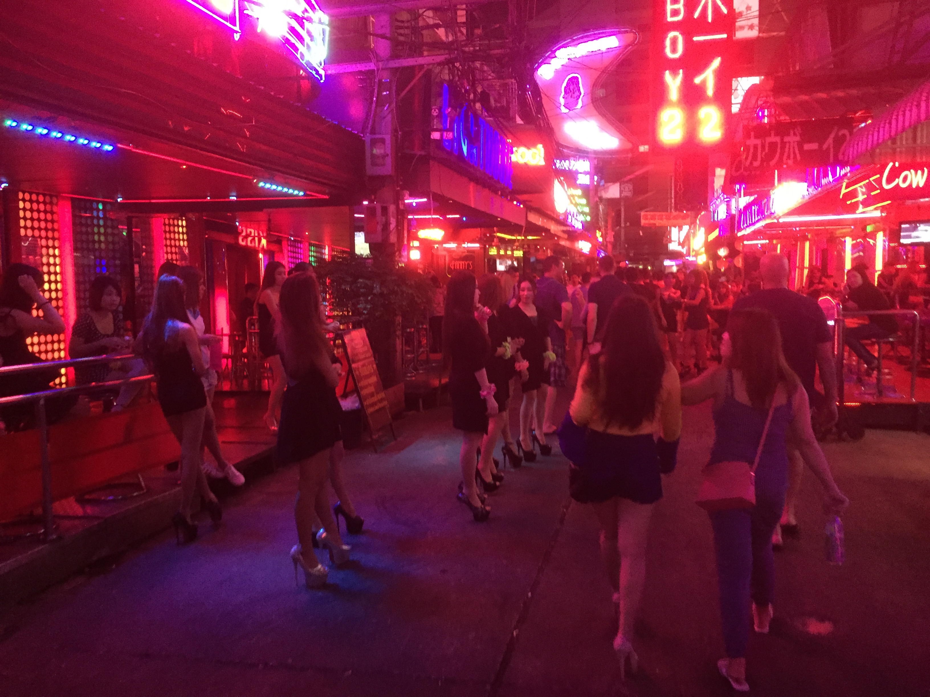 The red lights are back on Soi Cowboy after being dimmed for a month