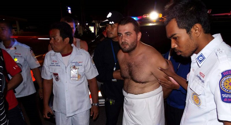 Tourist Kill Belov from Belarus was found hiding in the woods in Phuket having an exorcism