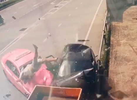 driver-hit-by-taxi-thailand