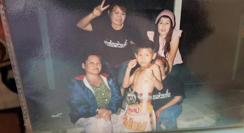 Tun Siraksa with his proud family, whom he supported with prize money