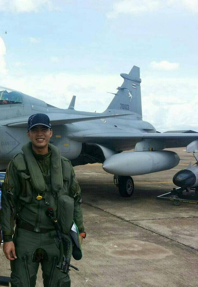 Group Captain Dilokrit Pattavee before he was killed in the air show crash in Hat Yai