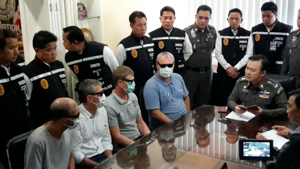 The men who were involved with crime in Pattaya will be deported to their home countries