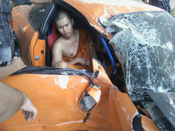 Thapanat Chaiyasut, 31, was just one day from leaving the strict monkhood when he took the car for a celebratory spin