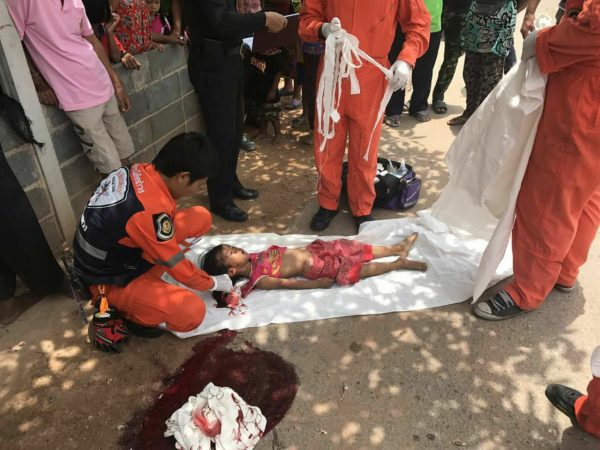 The four-year-old girl killed in a hit and run in Udon Thani, Thailand