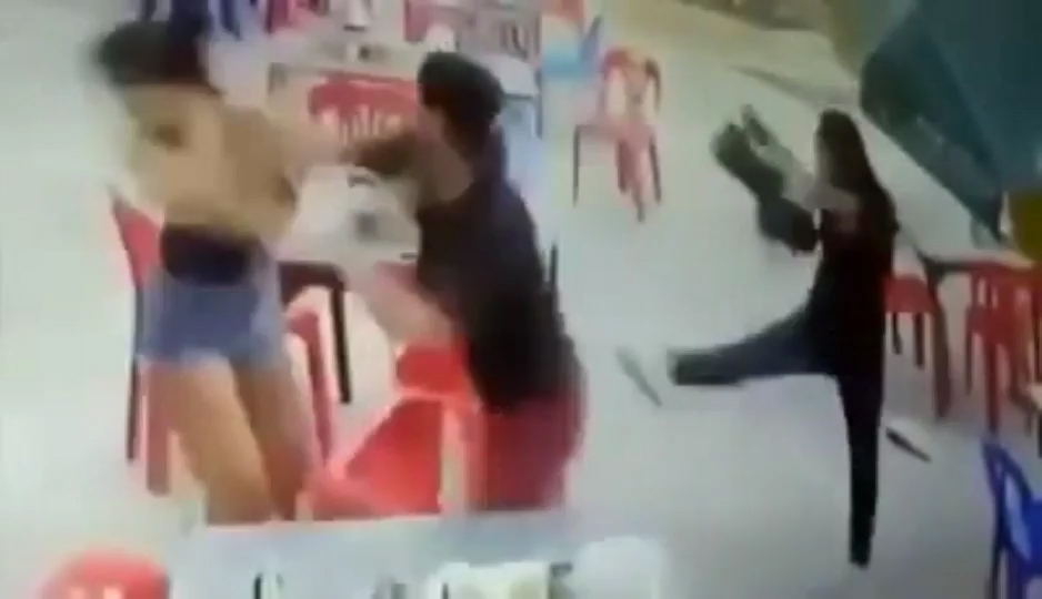 Puen Thanachai, 19, punches a woman after she was unimpressed with his chat up lines and rejected his advances for her phone number