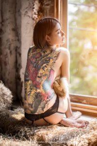 Tattoo Girl Model