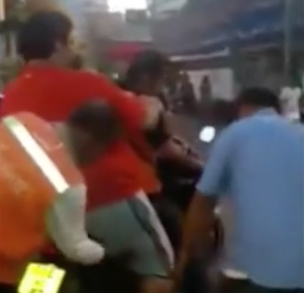 Chubby Tourist Tries To Ride Pillion With Hilarious Results