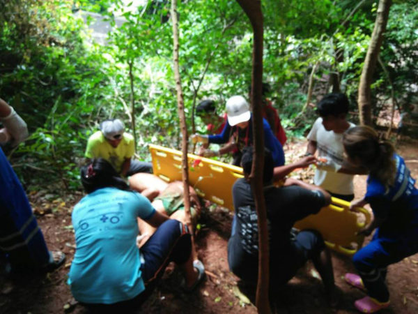Rescuers find Eduardo at the bottom of cliffs near Railay Bay