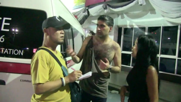 The Iranian tourist explains that he thought the ladyboy was a woman