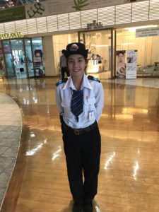 Net idol June Wanlader, 21, working as a security guard