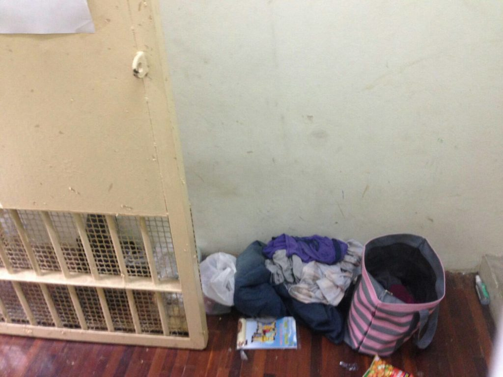 The floor of the cell Cazes had been staying in since his arrest