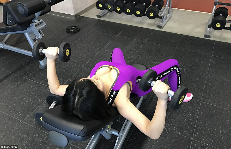 Gao Qian exercises for six hours a day to maintain her beautiful buttocks