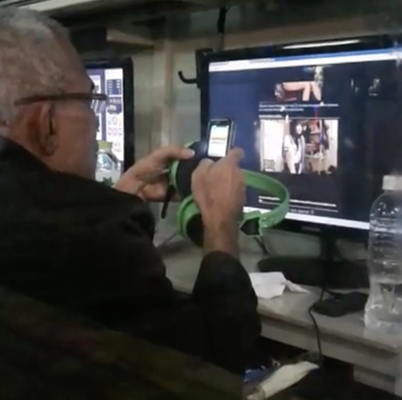 The pensioner was spotted browsing the public computers and playing x-rated clips of Japanese maids.