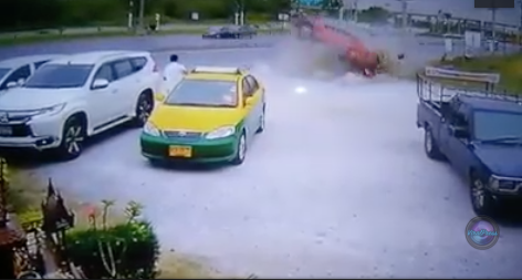 Taxi Driver Crushed By Out-of-Control Car