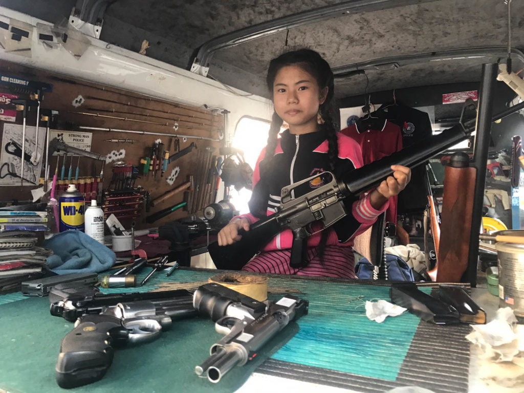 Schoolgirl Salisa Yasuwat, 12, who can assemble a magnum faster than police