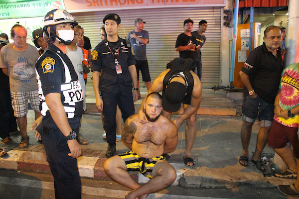 The Russian man arrested after a rampage in Pattaya