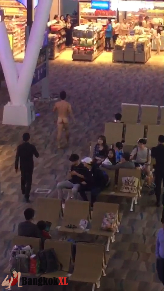 NAKED AMERICAN TOURIST ARRESTED AT AIRPORT AFTER 'OVERDOSING ON